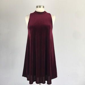 Everly Elegant Red LushVelvet Dress from Nordstrom
